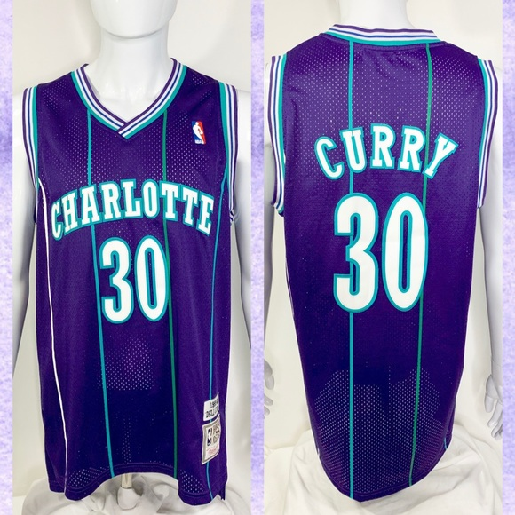 sneakers for cheap e8126 6df08 NBA Mitchell & Ness Dell Curry Hornets Jersey L